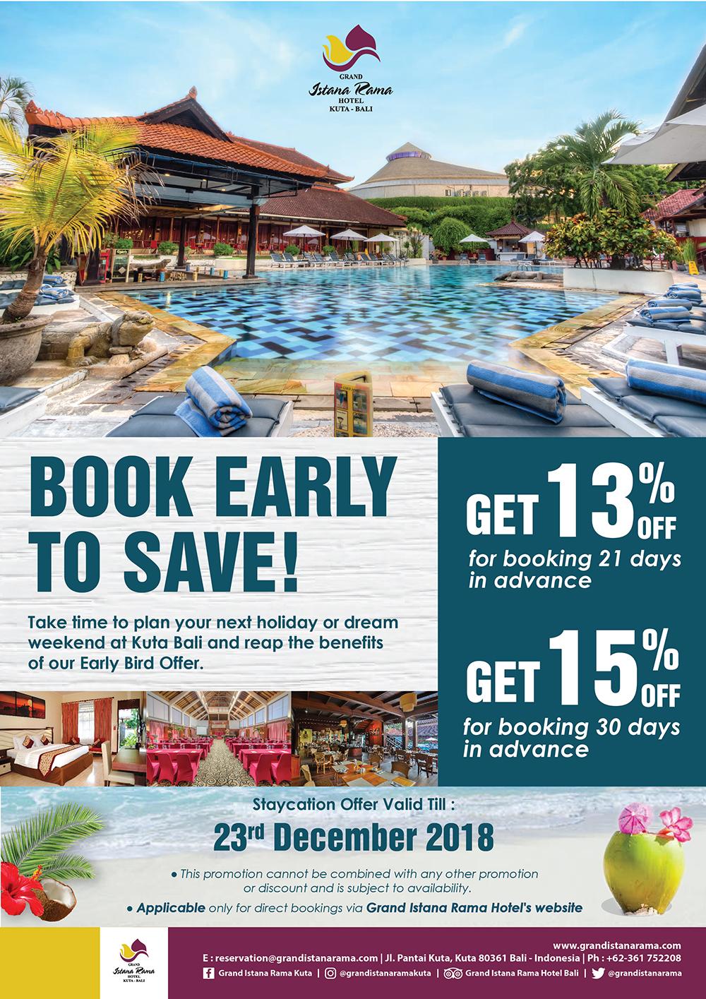 Promotions Grand Istana Rama Voucher Hotel Ayodya Resort Bali Deluxe Bed An Breakfast Book
